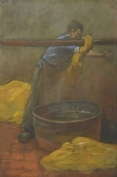 Johan Coenraad Hermann 'Herman' Heijenbrock (Amsterdam 1871-1948 Blaricum) Stoffenverver - Kunsthandel Simonis en Buunk, Ede (Nederland).