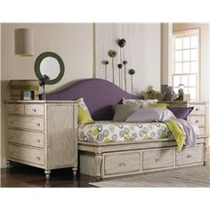 Opus Designs Abby Full Storage Daybed with Slip Cover -Lilac