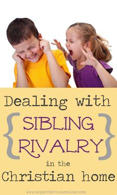 How should Christian parents deal with sibling rivalry? Find Biblical advice in this post. Good read, worth holding on to. Parenting Classes, Parenting Books, Parenting Teens, Parenting Humor, Kids And Parenting, Parenting Issues, Parenting Styles, Raising Godly Children, Raising Kids