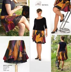 genuine in wonderful colors. Low-waist, bell-shaped style above the knees. Leather Folder, Leather Portfolio, Craft Accessories, Loose Weight, Cotton Lace, Black Silk, Unique Fashion, Tie Dye Skirt, Dress Outfits