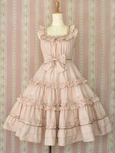 Victorian Maiden Frill Ribbon Dress – Rose i want to pair this with some knee-high mahogany-colored boots and a matching leather jacket. throw in a sweet ray gun holster, and i'm in love. Japanese Street Fashion, Asian Fashion, Look Fashion, Outfits Kawaii, Cute Outfits, Vintage Outfits, Vintage Dresses, Kawaii Fashion, Lolita Fashion
