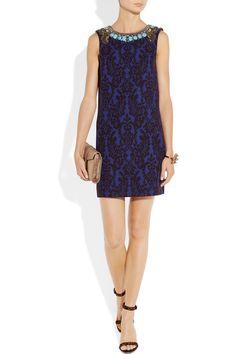 Matthew Williamson|Embellished jacquard dress|NET-A-PORTER.COM