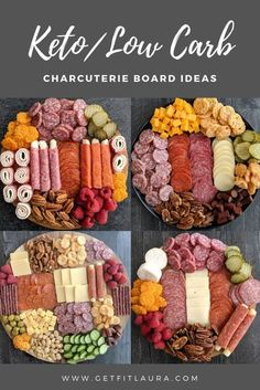 Charcuterie Recipes, Charcuterie Platter, Charcuterie And Cheese Board, Cheese Boards, Meat Cheese Platters, Antipasto Platter, Crudite Platter Ideas, Grazing Platter Ideas, Cheese Board Display