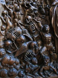 The Valley of the Dry Bones by Grinling Gibbons. Memento Mori, Wood Sculpture, Sculptures, Valley Of Dry Bones, Vanitas, Fantastic Art, How To Antique Wood, Wood Art, Wood Crafts