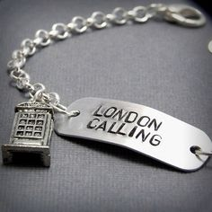 British Phone Booth Bracelet  London Calling by insane jellyfish, love this!  Pinned by www.funkyfabrix.com.au