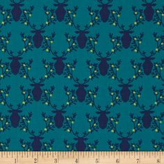 Michael Miller Rustique Trophy Teal from @fabricdotcom  Designed by Emily Herrick for Michael Miller, this cotton print is perfect for quilting, apparel and home decor accents.  Colors include yellow, navy and teal.