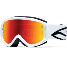 2015 Smith Fuel V.1 Max Goggles - White Mirror