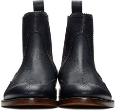 Gucci - Navy Band Chelsea Boots