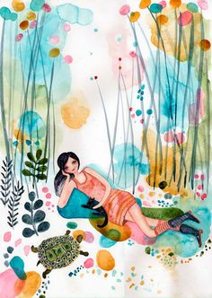 Me Time  Original Painting by Wyanne on Etsy