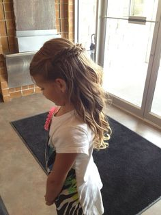 flower girl hair half up half down - Google Search