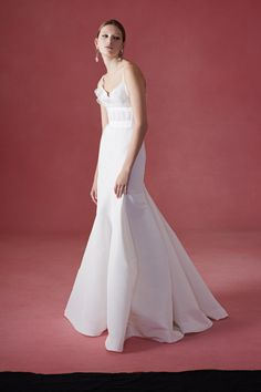 The Oscar de la Renta bridal collection is available at Mark Ingram Atelier in New York City.