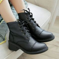Buy 'Pangmama – Block Heel Lace Up Ankle Boots' with Free International Shipping at YesStyle.com. Browse and shop for thousands of Asian fashion items from China and more!