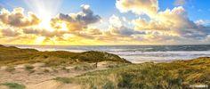TE KOOP!: Sunset on texel beach / Zonsondergang op het strand van Texel #panorama #texel #justinsinner #fotograaf #fotografie #strand #beach #zon #sun #wolken #clouds #zondondergang #sunset http://justinsinner.nl