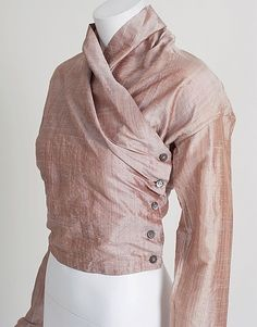 callaghan-by-romeo-gigli-silk-wrap-top - 1990's ...... totally applicable to the wrap look for today ... amazing how fashion evolves with a tweak here and there lol but any of the wrap patterns could be adapted to this ...... I would change the waistline finish to this top to update.