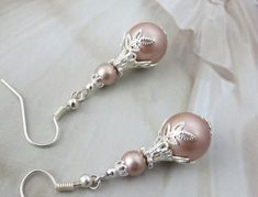 Items similar to French Lace Drop Pearl Earrings Filigree Silver Leaf Earrings Blush Jewelry Shabby Chic Antique Jewelry Bridal Earrings Taupe Wedding Dress on Etsy Pearl Earrings Wedding, Lace Earrings, Dainty Earrings, Antique Earrings, Pearl Drop Earrings, Bridal Earrings, Bridal Jewelry, Antique Jewelry, Jewellery Earrings