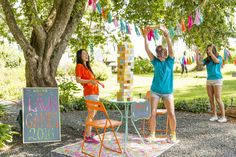 Save this to make DIY lawn games like Cacti Ring Toss + Cornhole for your summer party. #partner
