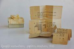 It can be confusing (luciferdoosje 13) - paper twine, vintage Dutch math book cut into a maze book - by Dymphie, Papieren Avonturen