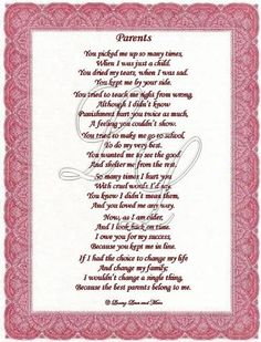 Poems About Loving Your Parents | Touching and Heartfelt ...