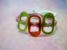 Pink #Recycled Tab #Hemp #Bracelet 1417 by #HemptressDesigns on Etsy, $5.00 hemptressdesigns.com