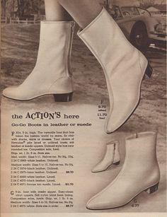 Go-Go boots that could be ordered during the 60's. WOW...look at those great prices!