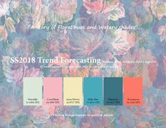 Image result for spring colour theme 2018
