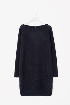 COS | Raised-stripe merino dress
