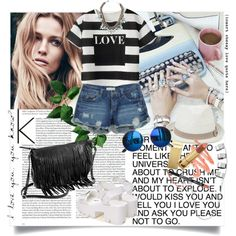 A fashion look from July 2015 featuring striped t shirt, summer shorts and platform sandals. Browse and shop related looks. Polyvore Outfits, Steve Madden, Oasis, Mango, Stuff To Buy, Ice, Shopping, Collection, Design