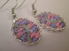 Ohrring+rosa+-+lila+Vintage+antik+von+Schmuckstück+auf+DaWanda.com