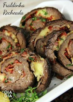 Ideas For Recipe Spaghetti Meat Meat Recipes, Chicken Recipes, Cooking Recipes, Brazillian Food, Brazilian Dishes, Good Food, Yummy Food, Portuguese Recipes, Diy Food