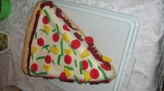 Pizza Cake for the pizza loving kid. Mutant Ninja, Teenage Mutant, Cupcake Cakes, Cupcakes, Pizza Cake, Ninja Turtle Party, Pizza Party, Celebration Cakes, Cake Ideas