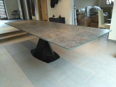 Extendable version of Victoria table in Neolith Iron Moss top and Black matt frame. Available in other sizes and configurations. Delivered to our client in Rugeley. Contemporary Furniture, Contemporary Design, Leather Bed, Sofa Design, Modern Bedroom, Sideboard, Tables, Dining Table, Victoria