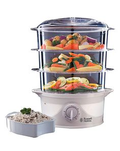 Recipes for electric steamer httpgeorgeforemanrecipes russell hobbs 9 litre 3 tier steamer forumfinder Image collections