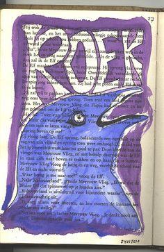 Boeksel 27 Roek 24012010 Altered books, book art, altered pages, boekkunst, bookart, boeksel, boeksels, boekselen