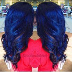 23 Different Blue Hair Color Ideas // Hair Color Blue, Cool Hair Color, Hair Colors, Midnight Blue Hair, Dye My Hair, Mermaid Hair, Gold Hair, Ombre Hair, Hair Dos