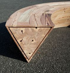 Because of shape, this won't tip either direction. Amazing! Round & round bench at wanted design by louis lim