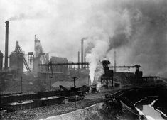 Exterior of an unidentified steel mill (circa ~1900)