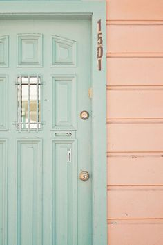 color cravings: aqua + blush
