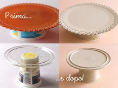 giochi di carta: riciclo creativo: alzatina DIY