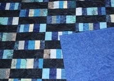 Blue Summer Time Quilt made by Karen at Critterbug Creations