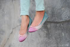 Awesome ombre ballet flats!