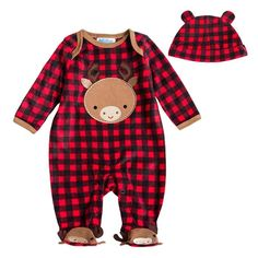 Unisex Baby Christmas Reindeer Jumpsuit. 30% proceeds from every purchase goes to animal charities.