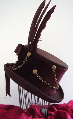 Brown top hat steampunk  wolf Keeper. £85.00, via Etsy.