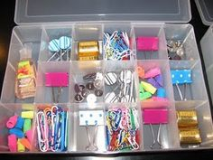 LOVE this idea for all those little things at your desk!