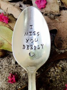 I Miss You Deerly Stamped Spoon Long Distance by SweetThymeDesign