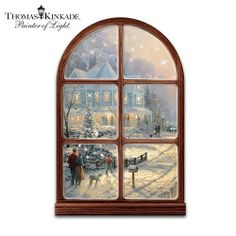 """Thomas Kinkade A Holiday Gathering Musical And Illuminated Wall Sculpture by The Bradford Exchange by Bradford Exchange. $129.99. Plays a medley of 8 favorite holiday tunes including """"Silent Night"""" and """"Joy to the World"""". It lights up! 250 twinkling fiber optic lights set this festive keepsake aglow. Aglow with 250 pulsing fiber optic lights, this holiday wall decor features Thomas Kinkade's beloved artwork, """"A Holiday Gathering"""" on top-quality, stretched artist's c..."""