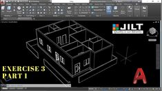 Create 3D HOUSE using Autocad in Easy steps - EX 3 - PART 1 In this video tutorial we will show you how to make a 3D house in Auto CAD from start to finish.