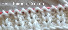 half brioche stitch - knitting tutorial