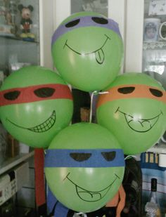 Made these for my 3 yr olds TMNT Birthday