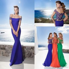 2015 Tarik Ediz Eliza Latest Style Cap Sleeve Royal Blue Prom Party Dresses Beadded Mermaid Beach Evening Dresses Online with $96.34/Piece on Weddingpalace's Store | DHgate.com
