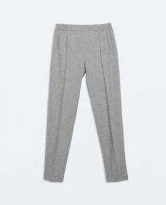 ZARA - NEW THIS WEEK - TROUSERS WITH RIBBED WAISTBAND